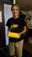 Daughter Caitlyn with our beeswax