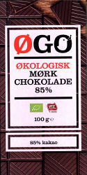 Øgo Dark Chocolate 85% (Øgo | Netto)