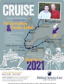 Flyer for 2021 Iberian Adventure Cruise with Pat Carnathan & Hunter Keller