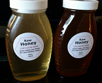 Two jars of Honey, Los Olivos Gold