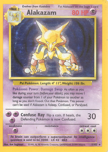 Alakazam Pokemon Card Images | Pokemon Images