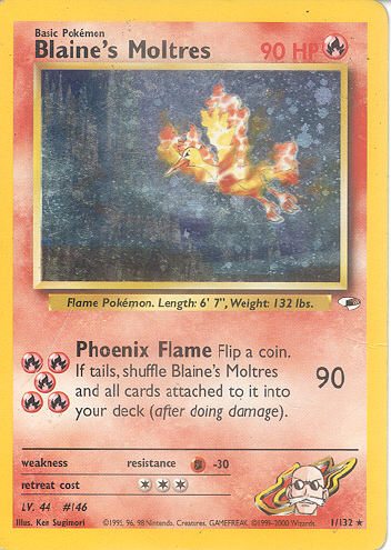 Blaine's Moltres - (Gym Heroes)