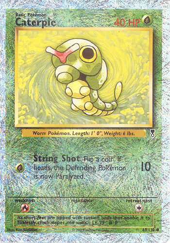Caterpie (Reverse Holo Shiny) - (Legendary Collection)