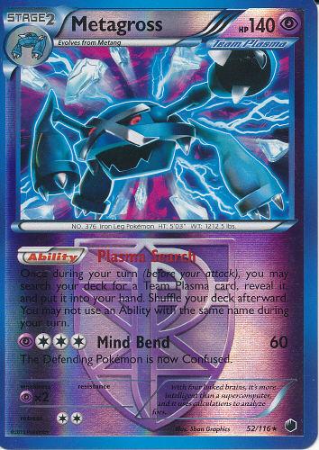 Caitlyn 39 s pok mon card collection metagross team plasma reverse holo card - Carte pokemon team plasma ...