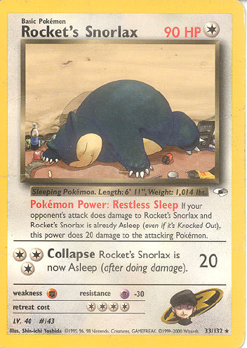 Rocket's Snorlax - (Gym Heroes)
