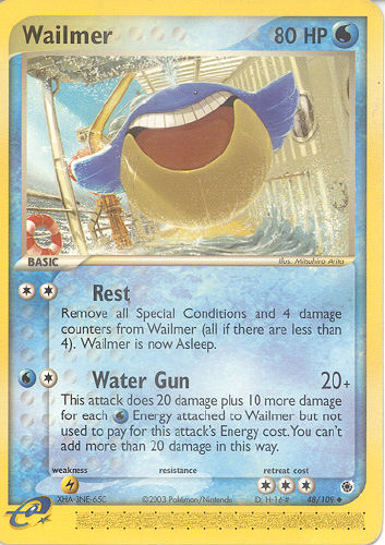 Wailmer - (EX Ruby And Sapphire)