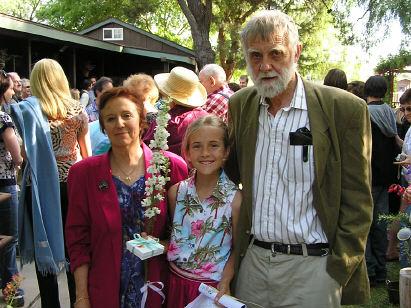 Maria, Caitlyn, and Grandpa Jack