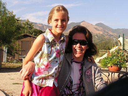 with Aunt Julie