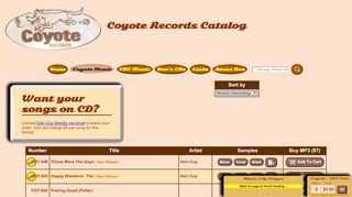 "Web site for ""Coyote"""