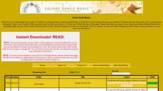 "Web site for ""Solid Gold"""