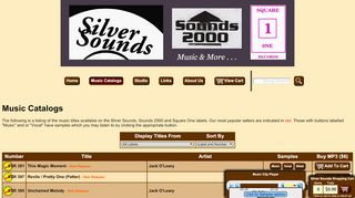 "Web site for ""Silver Sounds"""