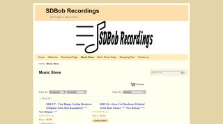 "Web site for ""SDBob Recordings"""