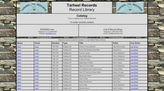 "Web site for ""Tarheel"""
