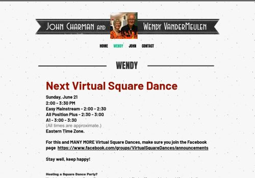 "Web site for ""Wendy VanderMeulen"""