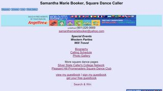 "Web site for ""Samantha Marie Booker"""