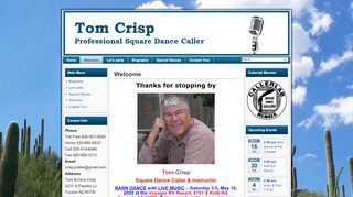 "Web site for ""Tom Crisp"""