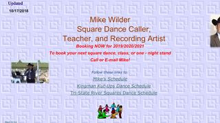 "Web site for ""Mike Wilder"""