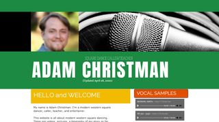 "Web site for ""Adam Christman"""