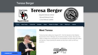 "Web site for ""Teresa Berger"""