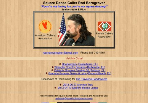 "Web site for ""Rod Barngrover"""