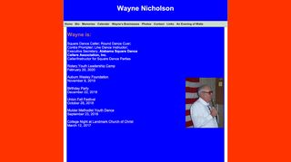 "Web site for ""Wayne and Ruby Nicholson"""