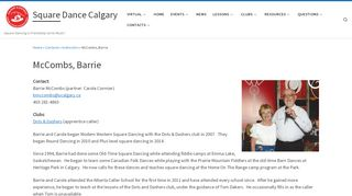 "Web site for ""Barrie McCombs"""