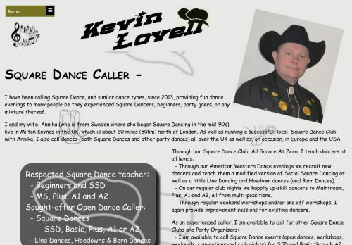 "Web site for ""Kevin Lovell"""