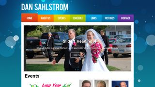 "Web site for ""Dan Sahlstrom"""