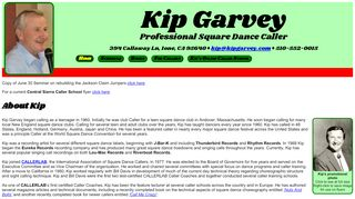 "Web site for ""Kip Garvey"""