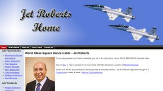 "Web site for ""Jet Roberts"""