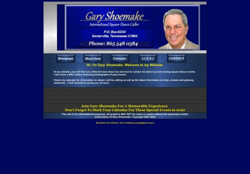 "Web site for ""Gary Shoemake"""