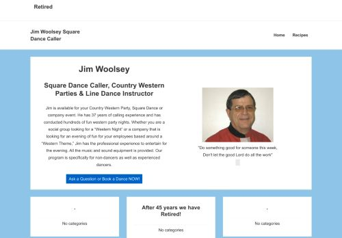 "Web site for ""Jim and Twyla Woolsey"""