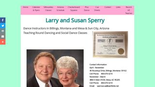 "Web site for ""Larry and Susan Sperry"""