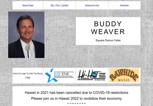 "Web site for ""Buddy Weaver"""