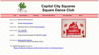"Web site for ""Capital City Squares"""