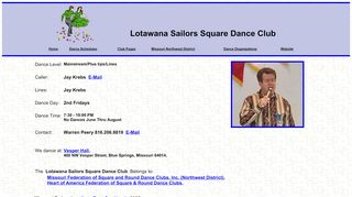"Web site for ""Lotawana Sailors"""