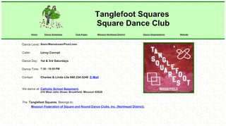 "Web site for ""Tanglefoot Squares"""