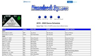"Web site for ""The Monadnock Squares"""
