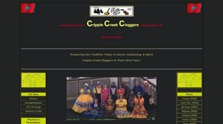 "Web site for ""Cripple Creek Cloggers"""