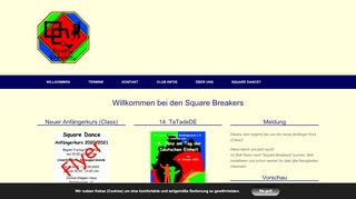 "Web site for ""Square Breakers"""