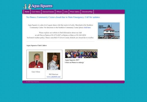 "Web site for ""Aqua Squares"""