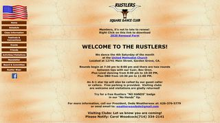 "Web site for ""Rustlers Square Dance Club"""