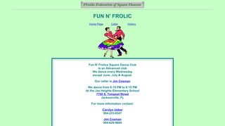 "Web site for ""Fun N' Frolics"""