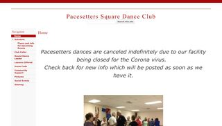 "Web site for ""Pacesetters Square Dance Club"""