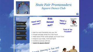 "Web site for ""State Fair Promenaders"""