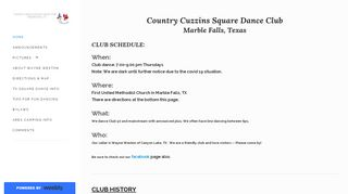 "Web site for ""Country Cuzzins"""