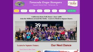 "Web site for ""Grapestompers"""