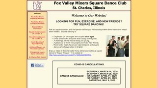 "Web site for ""Fox Valley Mixers"""