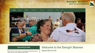 "Web site for ""Swingin' Beavers"""