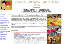 "Web site for ""Chaps & Petticoats"""